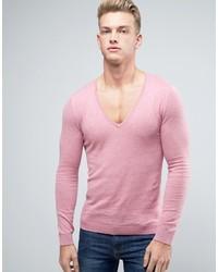 Jersey de pico rosado de Asos