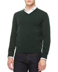 Jersey de pico verde oscuro