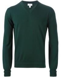 Jersey de pico verde oscuro de Brioni