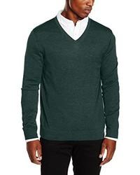 Jersey de pico verde oscuro de Calvin Klein
