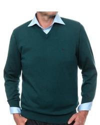 Jersey de pico verde oscuro de Casamoda