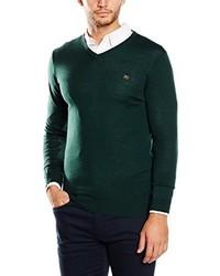 Jersey de pico verde oscuro de Cortefiel