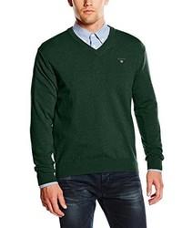 Jersey de pico verde oscuro de Gant
