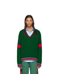 Jersey de pico verde oscuro de Gucci