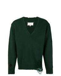 Jersey de pico verde oscuro de Maison Margiela