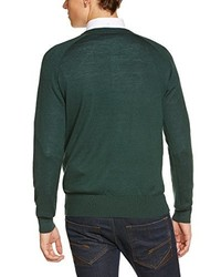 Jersey de pico verde oscuro de Merc of London
