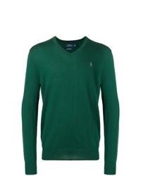 Jersey de pico verde oscuro de Polo Ralph Lauren