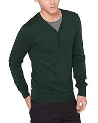 Jersey de pico verde oscuro de s.Oliver