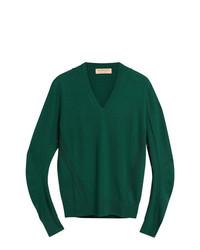 Jersey de pico verde de Burberry