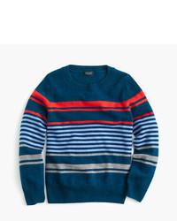 Jersey de rayas horizontales azul marino