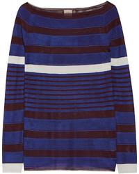 Jersey de rayas horizontales azul de Tod's