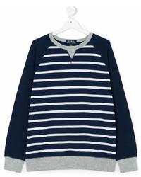 Jersey de rayas horizontales en azul marino y blanco de Ralph Lauren