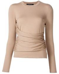 Jersey de seda marrón claro de Derek Lam