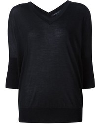 Jersey de seda negro de Derek Lam