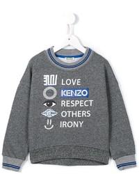 Jersey estampado en gris oscuro de Kenzo