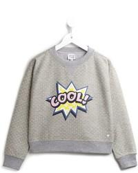 Jersey estampado gris de Armani Junior