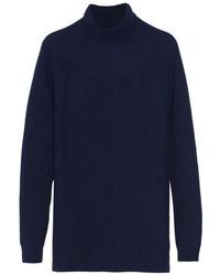 Jersey oversized azul marino de Jil Sander