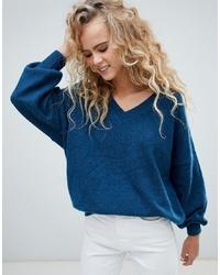 Jersey oversized azul marino de Weekday