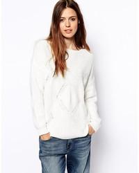 Jersey oversized blanco de Asos