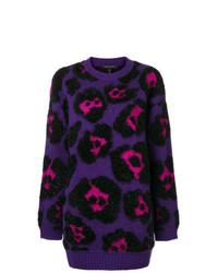 Jersey oversized de leopardo en violeta de Marc Jacobs