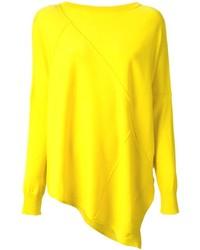 Jersey oversized de punto amarillo