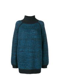 Jersey oversized de punto azul marino de Marc Jacobs