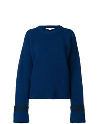 Jersey oversized de punto azul marino de Stella McCartney