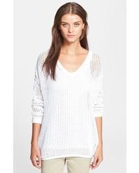 Jersey oversized de punto blanco
