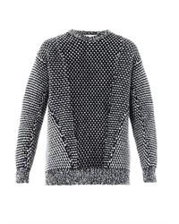 Jersey oversized de punto en blanco y negro
