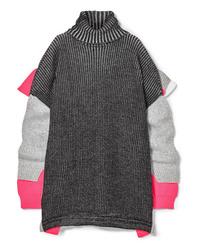 Jersey oversized de punto en gris oscuro de Balenciaga