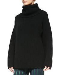 Jersey oversized de punto negro