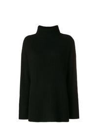 Jersey oversized de punto negro de Le Kasha
