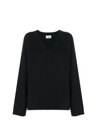 Jersey oversized de punto negro de Prada