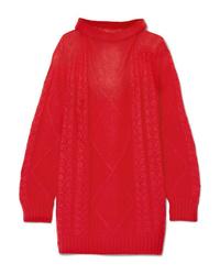 Jersey oversized de punto rojo de Maison Margiela