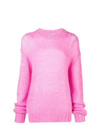 Jersey oversized de punto rosado de Prada