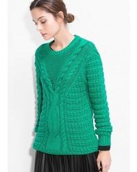Jersey oversized de punto verde