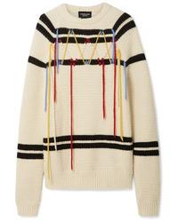 Jersey oversized de rayas horizontales en blanco y negro de Calvin Klein 205W39nyc