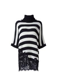 Jersey oversized de rayas horizontales en blanco y negro de Ermanno Scervino