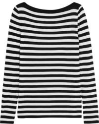 Jersey oversized de rayas horizontales en blanco y negro de Michael Kors