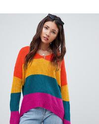 Jersey oversized de rayas horizontales en multicolor de E.L.K