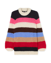 Jersey oversized de rayas horizontales en multicolor de Ganni