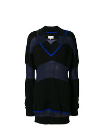Jersey oversized de rayas horizontales negro de Maison Margiela
