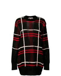 Jersey oversized de tartán negro de McQ Alexander McQueen