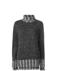 Jersey oversized en gris oscuro de MM6 MAISON MARGIELA