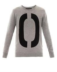 Jersey oversized estampado gris