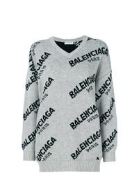 Jersey oversized estampado gris de Balenciaga