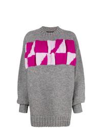 Jersey oversized estampado gris de Calvin Klein 205W39nyc