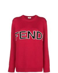 Jersey oversized estampado rojo de Fendi