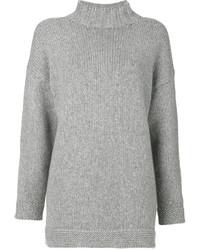Jersey oversized gris de Alexander McQueen