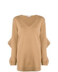 Jersey oversized marrón claro de RED Valentino